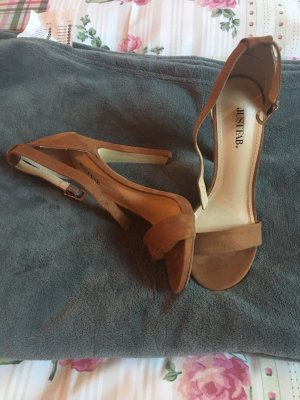 JustFab High Heel Sandal cognac-coloured-brown