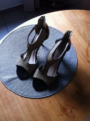 Tamaris High Heel Sandal black-sand brown leather
