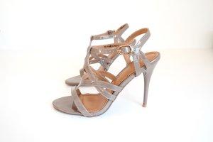High-Heeled Sandals cream-green grey