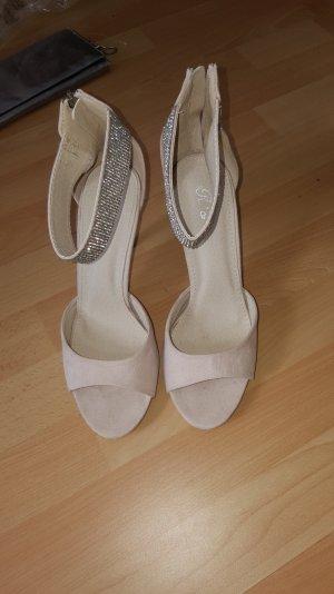 High heels Sandaletten-nude -strass
