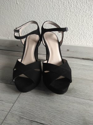 Anna Field Strapped High-Heeled Sandals black