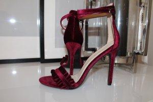 High Heels Sandaletten Samt Velvet