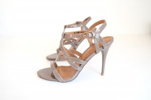 High-Heeled Sandals cream-green grey