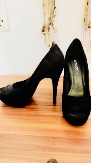 H&M Peep Toe Pumps zwart