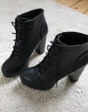 H&M Platform Booties black