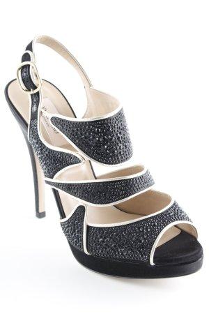 High Heels schwarz-beige