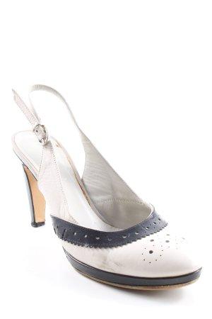 High Heels schwarz-creme Business-Look