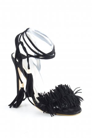 High Heels schwarz-creme Casual-Look