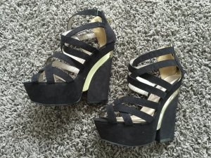 High heels schwarz gold