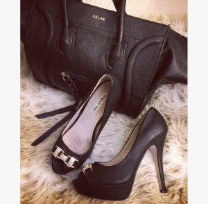 High Heels Schwarz/ Gold