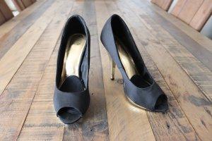 High Heels schwarz gold H&M Gr. 37
