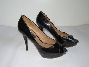 High Heels schwarz Mango Lack Gr. 36