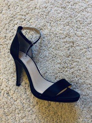 High heels schwarz mit Riemchen, schlicht