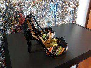High Heels schwarz orange Größe 39,5