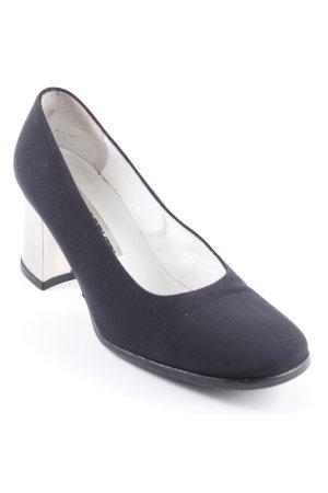 High Heels schwarz-silberfarben Elegant
