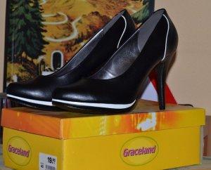High Heels schwarz-weiss