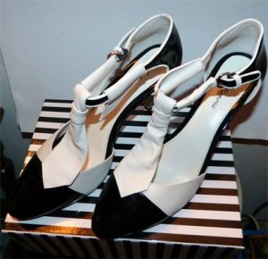 High heels, schwarz, weiss, Rockabella, Lola Ramona, Neu, Gr. 41