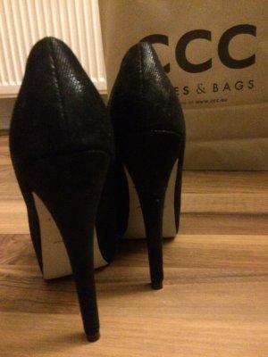 High Heels (schwarz, Wildlederoptik)