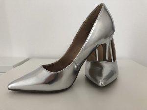 High Heels Silber Bershka Gr. 37