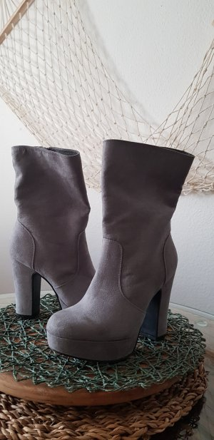 Catwalk Heel Boots light grey