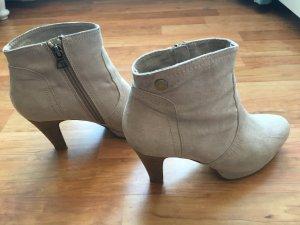 High Heels Stiefel beige Größe 38