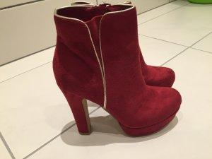 High Heels Stiefel  in Feuer rot für ein super Preis!!