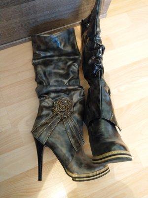 High Heels, Stiefel, Stiefelette, Paket, Gr 36, Neu, tw kaum getragen