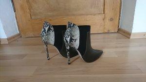 High Heels Stiefeletten mit Schlangenlederoptik Größe 37