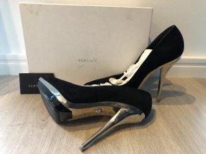 Versace Tacco alto nero-argento