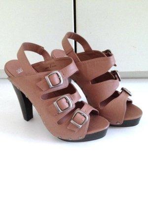 High Heels von Asos, Clogs Style, Gr. 39, ungetragen, mit echtem Leder