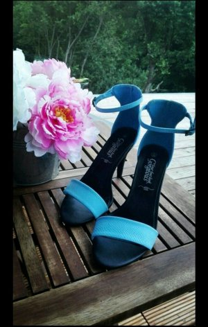 Asos High Heel Sandal black-neon blue