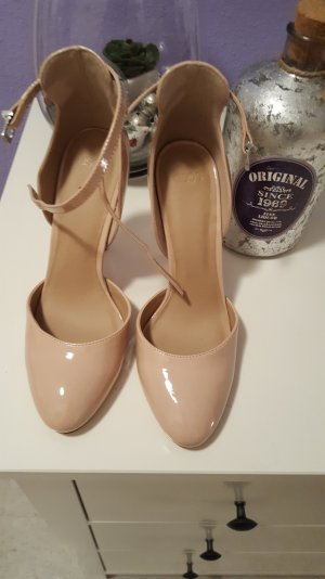 high heels von asos in nude