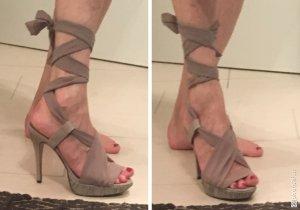 Friis & Company Plateauzool sandalen mauve