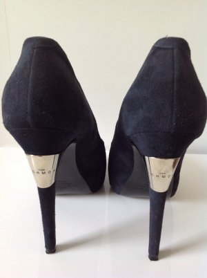 High Heels von John Richmond in blau und schwarz Gr. 38,5