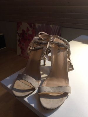 JustFab Lace-up Pumps nude