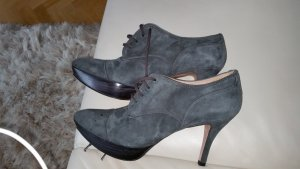 Pura Lopez Ankle Boots dark grey leather