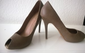 Zara Tacones altos color bronce-ocre