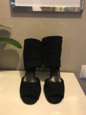 High heels Wildleder schwarz ZARA
