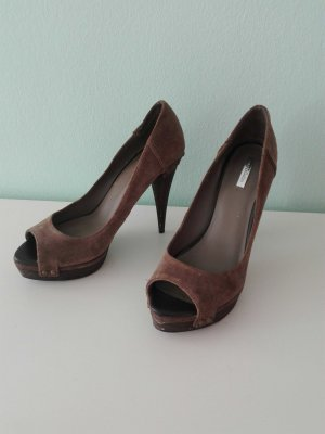 High Heels Zara Collection braun taupe 40 Plateau