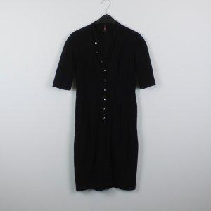 High Vestido negro tejido mezclado