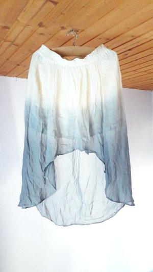 Zara Jupe taille haute multicolore coton