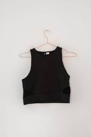 H&M Divided Cropped shirt zwart Viscose