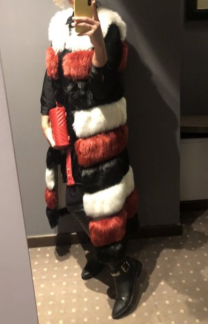 HIGH QUALITY FAUX FUR LUXURY RED, BLACK, WHITE