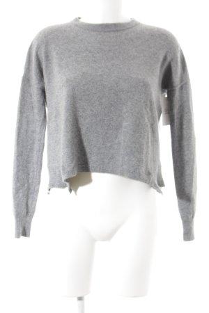 High Kraagloze sweater grijs