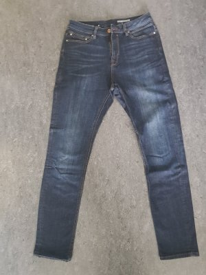 Edc Esprit Hoge taille broek blauw-donkerblauw