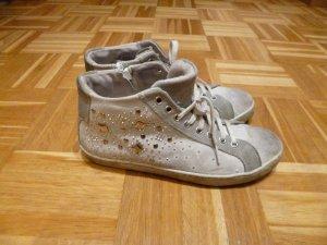 High Sneaker mit Steinchen in grau