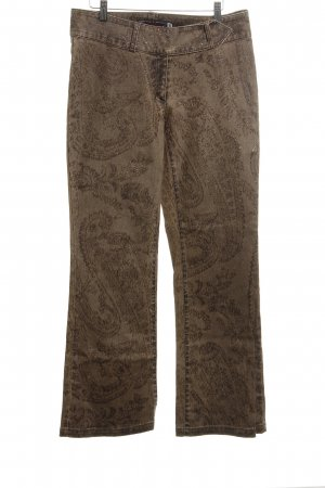 High Society Boot Cut Jeans bronze-colored-brown graphic pattern casual look