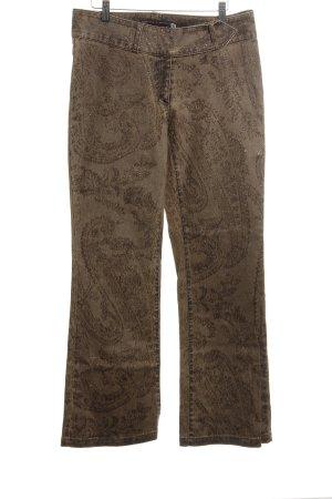 High Society Boot Cut spijkerbroek brons-bruin grafisch patroon