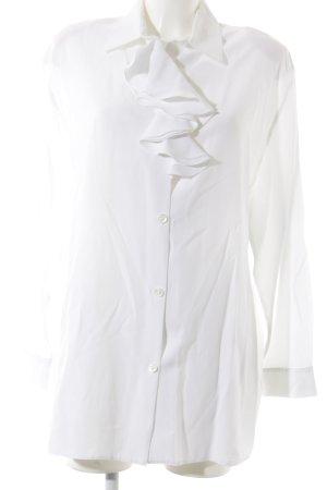 High Society Rüschen-Bluse weiß Elegant
