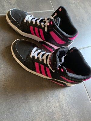 High top Adidas Neo schwarz/pink